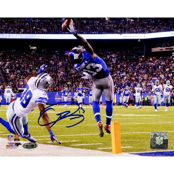 NFL Odell Beckham Jrs Signed One-Handed Touchdown Catch Photographic Print by Steiner Sports