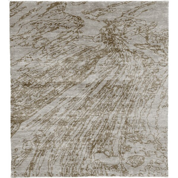 One-of-a-Kind Autry Hand-Knotted Gray 6' x 9' Area Rug