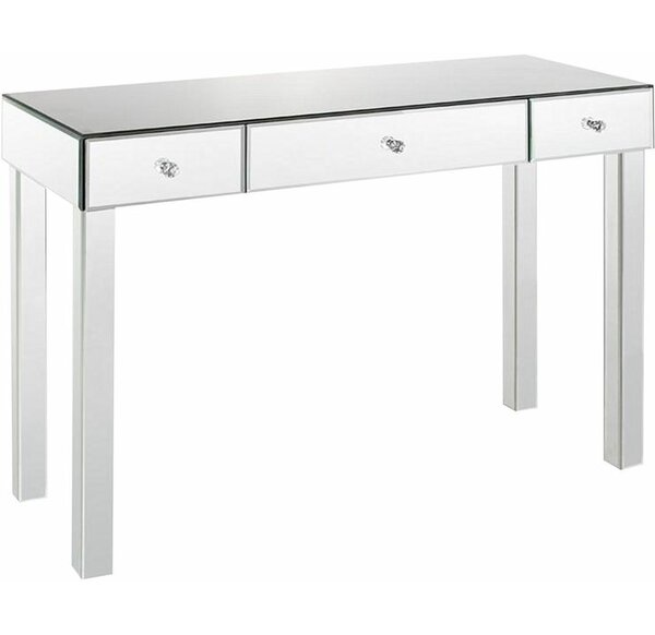 Borrello Park 3 Drawer Mirrored Console Table By Rosdorf Park