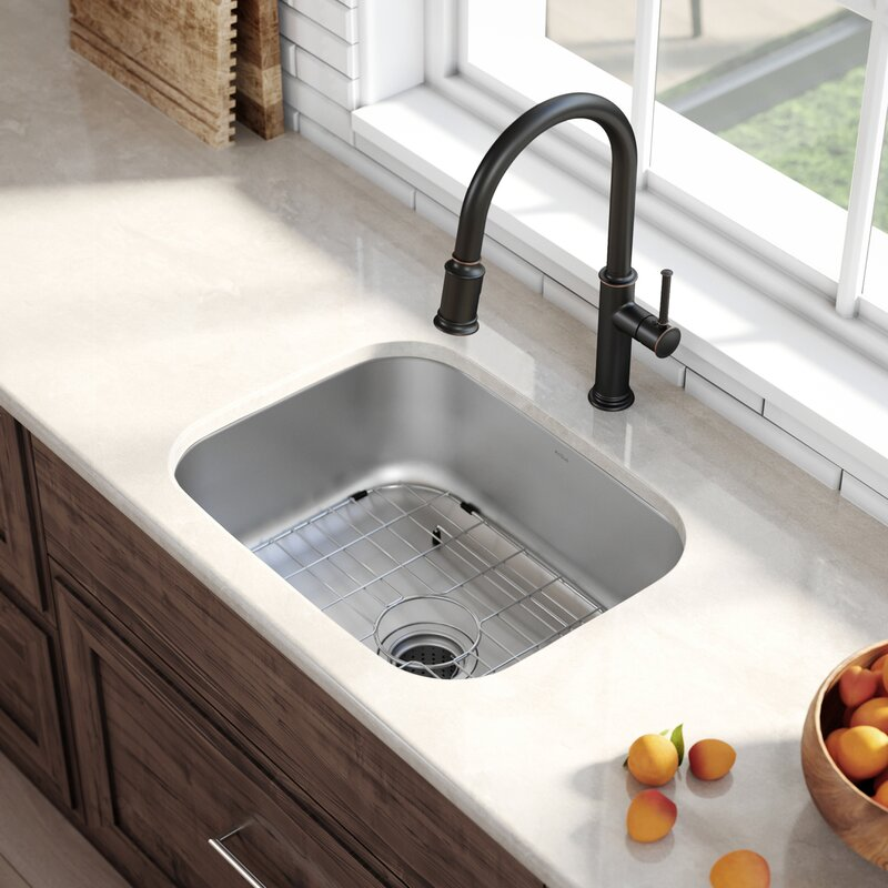 Stainless Steel 23 L X 18 W Undermount Kitchen Sink With Drain Assembly
