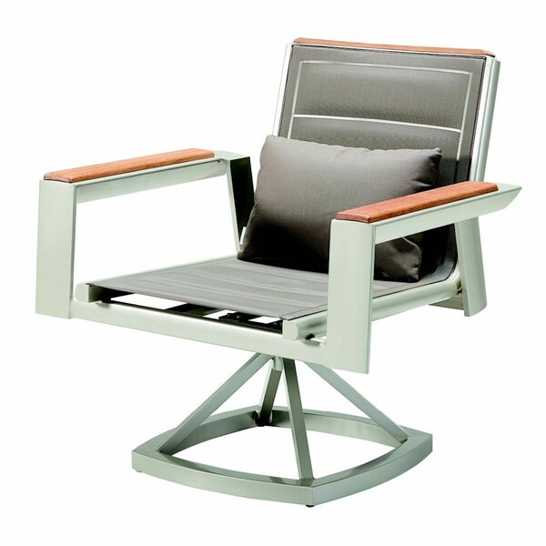 Sadira Teak Rocking Chair with Cushions by Latitude Run