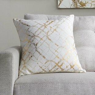 Metallic Gold Throw Pillows Wayfair
