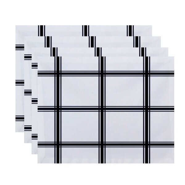 Arlene Plaid Geometric Placemat (Set of 4) by Charlton Home