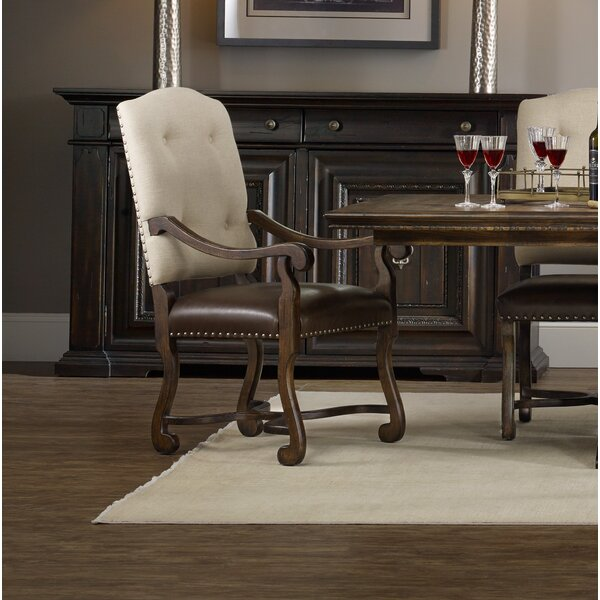 Treviso Upholstered Dining Arm Chair (Set of 2) by Hooker Furniture