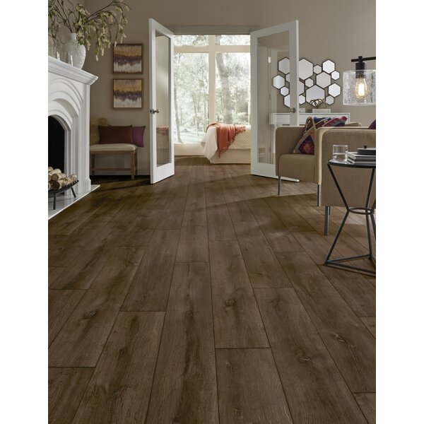 Restoration Wide Plank 8'' x 51'' x 12mm Oak Laminate Flooring in Rust by Mannington
