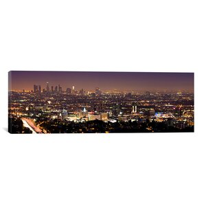 'Los Angeles Skyline Cityscape' Photographic Print on Canvas by East Urban Home