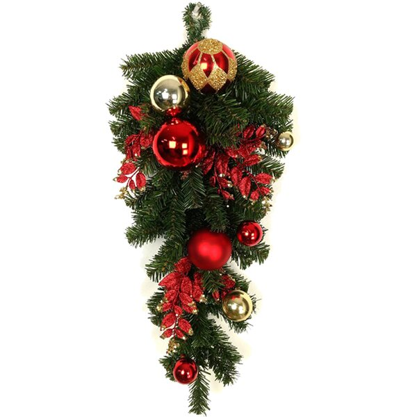 Christmas Ornaments Ball Garland Teradrop by The Holiday Aisle