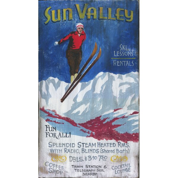 Ski Vintage Advertisement Plaque by Millwood Pines