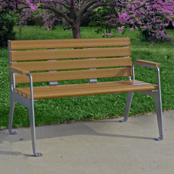 Plaza Plastic Park Bench by Frog Furnishings