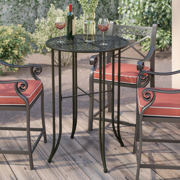 Doric Metal Bar Table by Darby Home Co