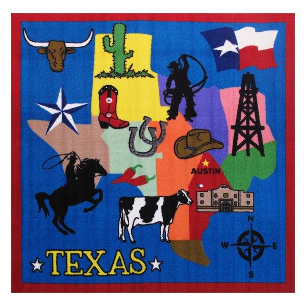 Fun Time Texas Blue Area Rug by Fun Rugs