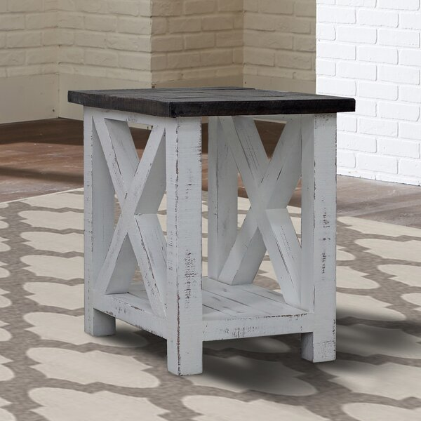 Rosalyn Solid Wood End Table with Storage by Rosecliff Heights Rosecliff Heights