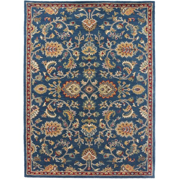 Daleville Hand-Tufted Navy Area Rug by Charlton Home