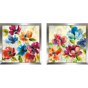 'Color My World I' 2 Piece Framed Print Set on Glass by August Grove