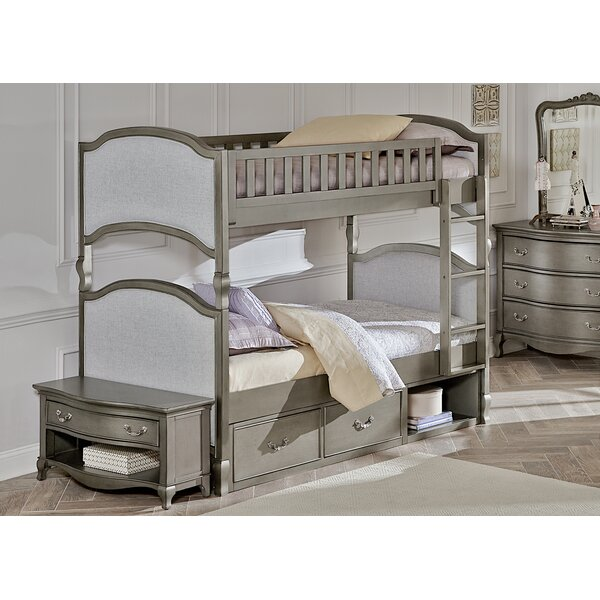 Platte Twin Over Twin Bunk Bed with Storage by Greyleigh