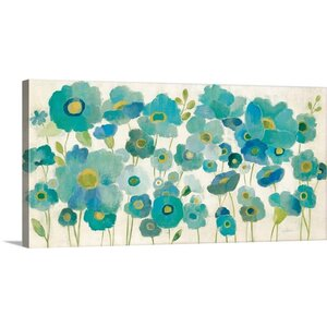 'Floral Lace' by Silvia Vassileva Painting Print on Canvas by Great Big Canvas