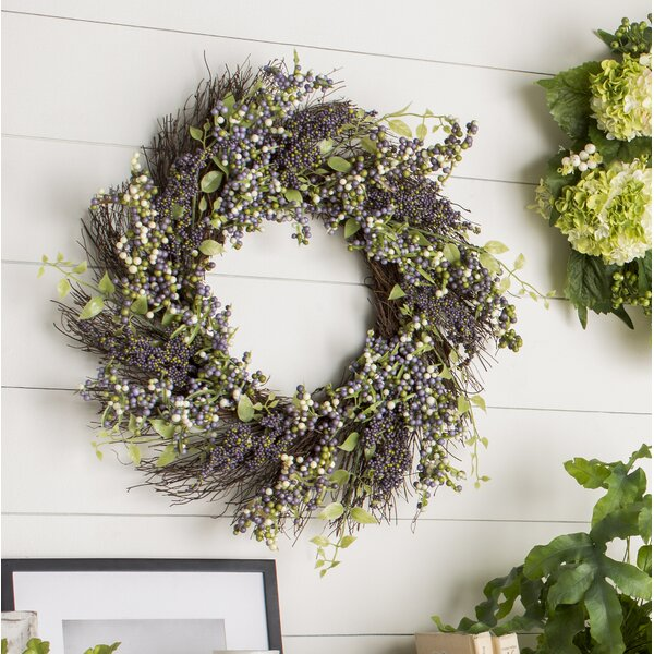 Decorative 22 Plum Artificial Berry Wreath by Ophelia & Co.
