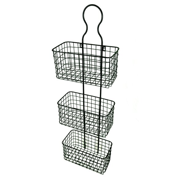 39.5 H x 12.5 W Hanging Wall Rack with 3 Baskets by GT DIRECT CORP