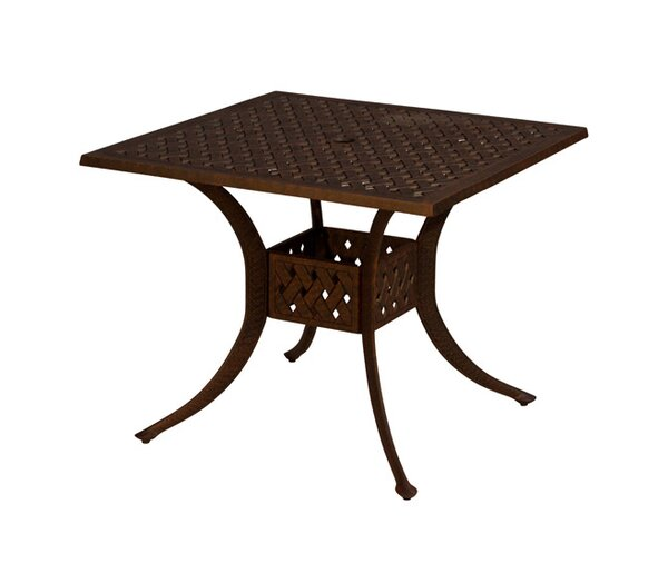 Aldrich Metal Dining Table by Darby Home Co Darby Home Co