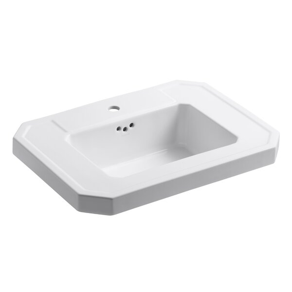 Kathryn® Ceramic 27 Pedestal Bathroom Sink with Overflow by Kohler