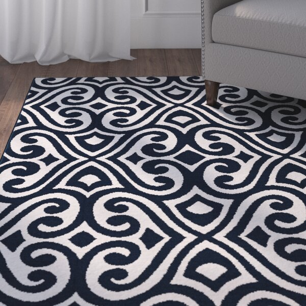 Rufus Blue Area Rug by Charlton Home
