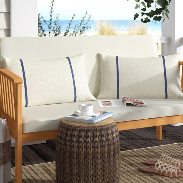 Churchton Indoor/Outdoor Sunbrella Lumbar Pillow (Set of 2) by Highland Dunes