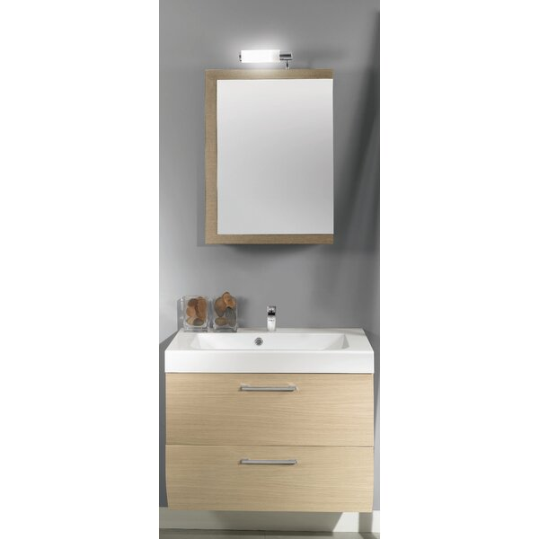 New Day 30 Single Wall Mounted Bathroom Vanity Set with Mirror by Iotti by Nameeks