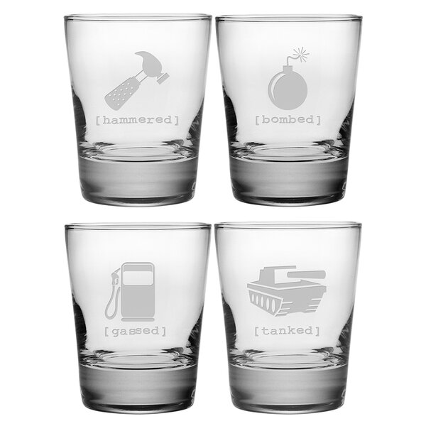 Mr. Tipsy Double Old Fashioned Glass (Set of 4) by Susquehanna Glass