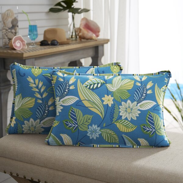 Whitlock Floral Indoor/Outdoor Lumbar Pillow by Winston Porter