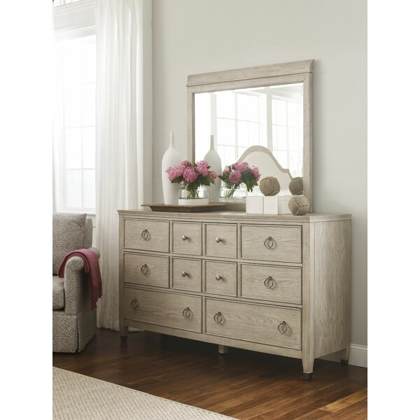 Rodgers 10 Drawer Dresser with Mirror by Rosalind Wheeler