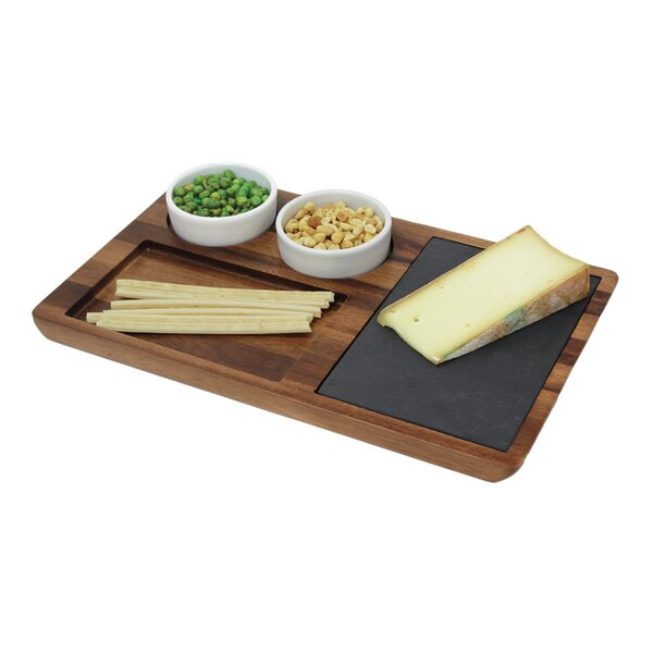 Chamomile  Wood Slate Cheese Tray by Mint Pantry