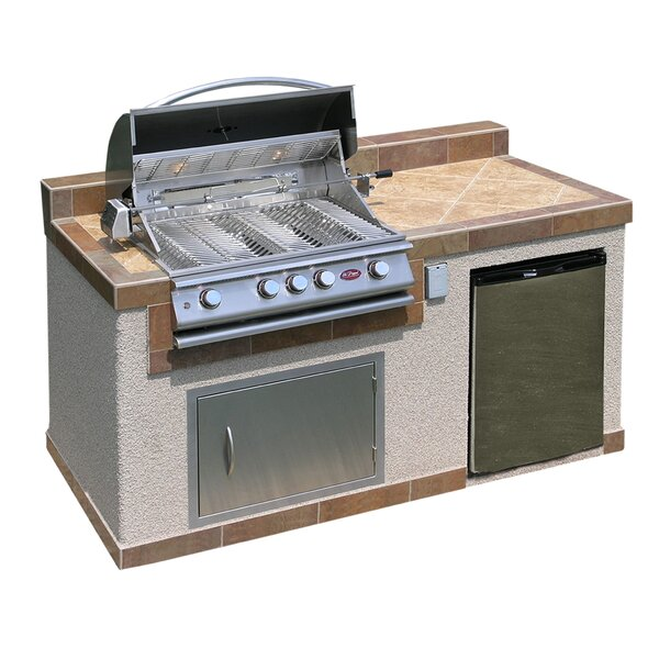 4-Burner Built-In Propane Grill with Cabinet by Cal Flame