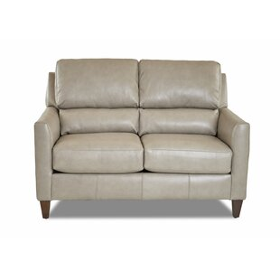Broad Leather Loveseat