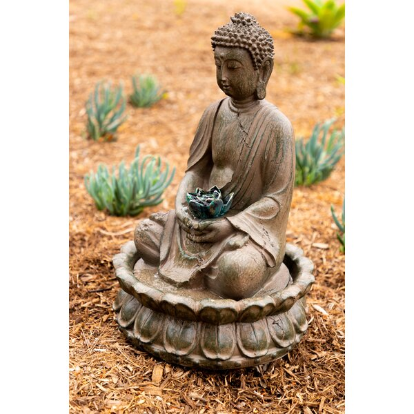 Tao Resin Buddha Fountain by Alpine
