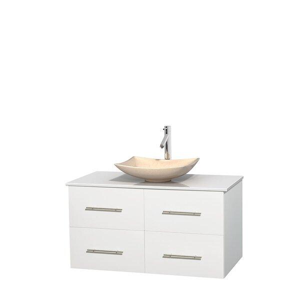 Centra 42 Wall-Mounted Single Bathroom Vanity Set