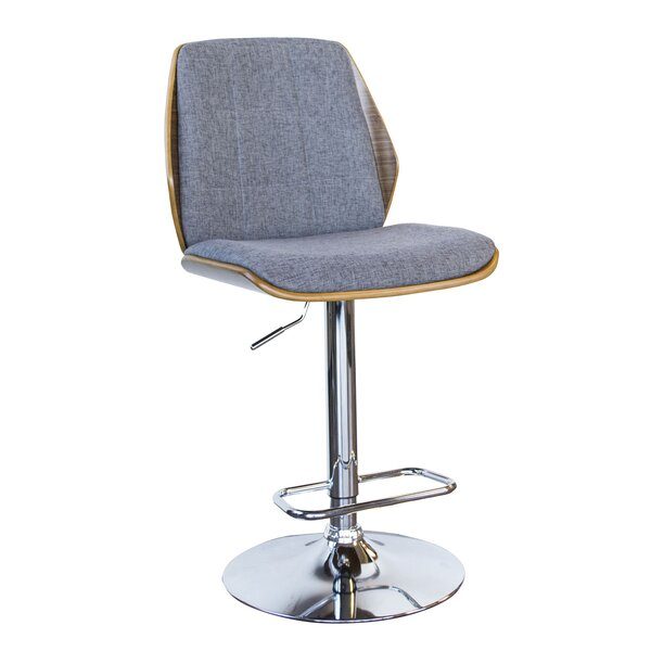 Varda Adjustable Height Swivel Bar Stool by Wrought Studio