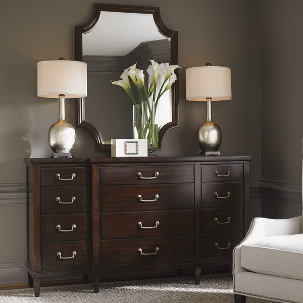 Kensington Place 12 Drawer Dresser with Mirror by Lexington