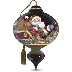 u201cBelieveu201d Marquis Shaped Glass Ornament by Susan Winget
