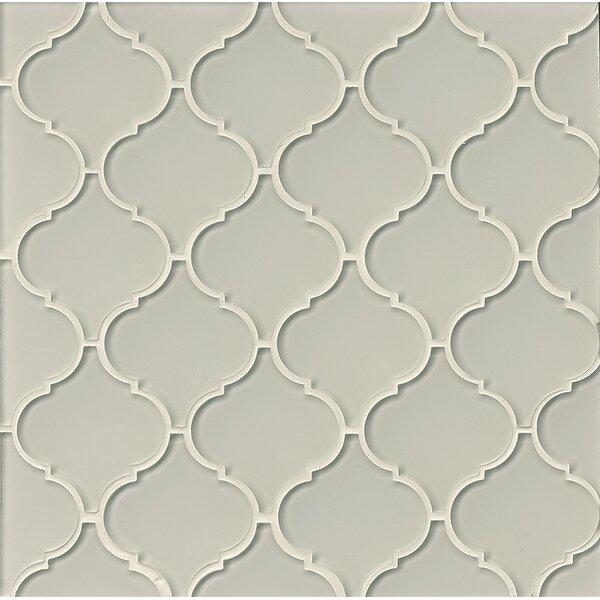 La Palma Glass Mosaic Tile in Glossy Fog by Grayson Martin