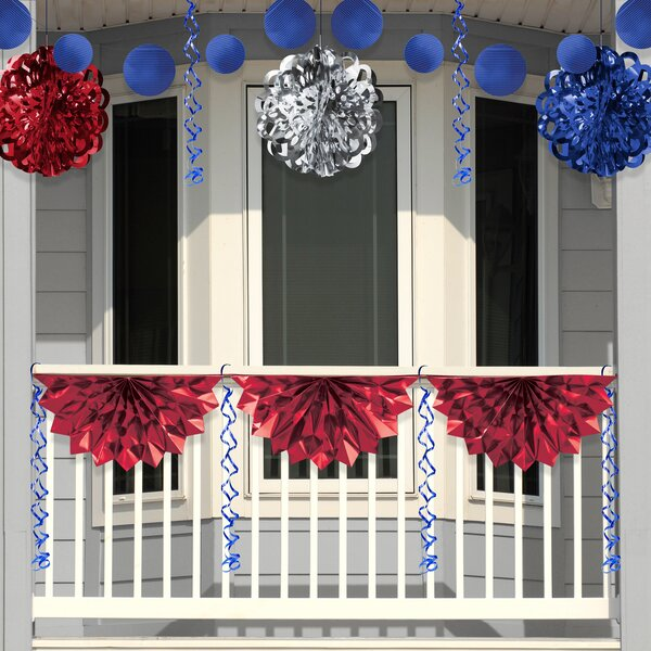 Patriotic Foil Decoration Kit by The Holiday Aisle