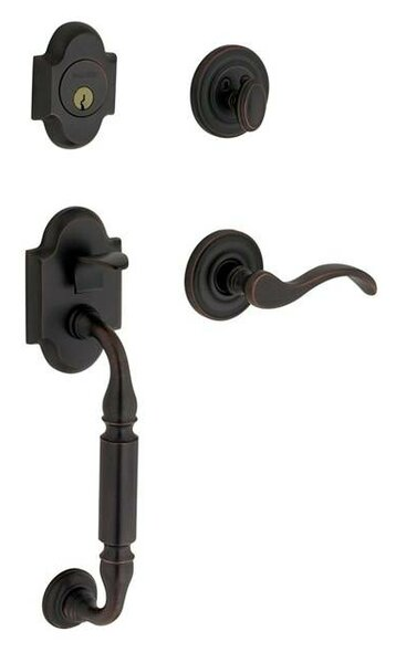Canterbuty Single Cylinder Handleset with Interior Lever and Sectional Trim by Baldwin