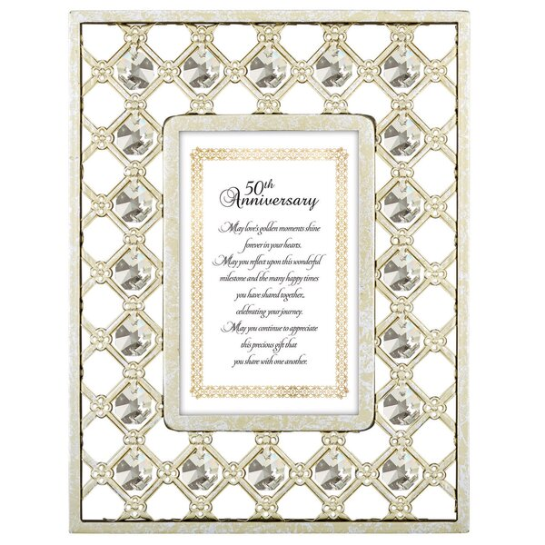 CBGT Love and Marriage 50th Anniversary Picture Frame | Wayfair