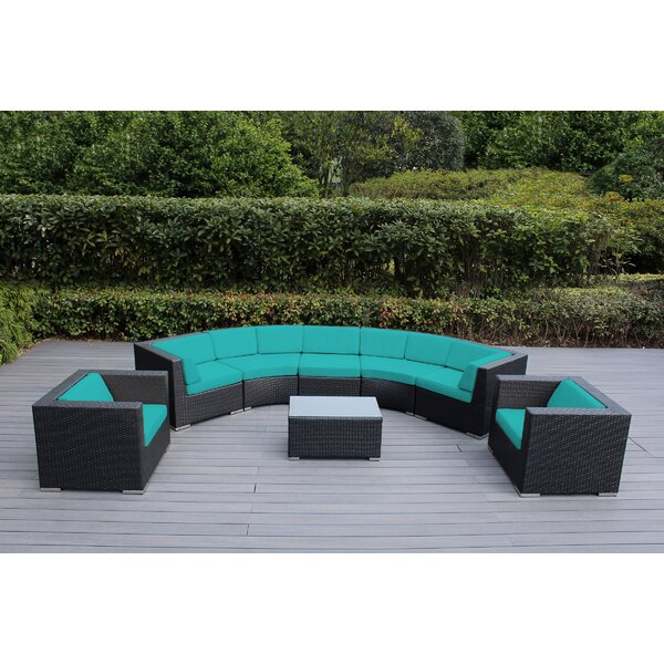 Popham 8 Piece Sectional Set with Cushions by Brayden Studio