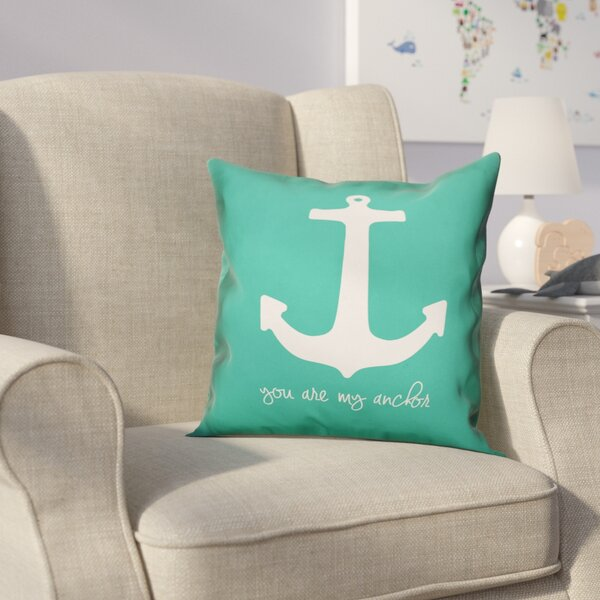 Kacie Anchor Throw Pillow by Zoomie Kids