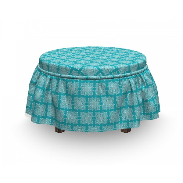Repeating Boho Motifs Ottoman Slipcover (Set Of 2) By East Urban Home