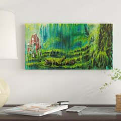 ArtWall 4 Piece Philip Straubs Hidden Treasure Floater Framed Canvas Staggered Set 36 x 54