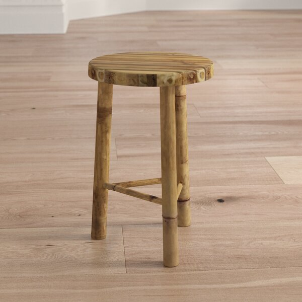 Khalid Small Bamboo Stool by Mistana