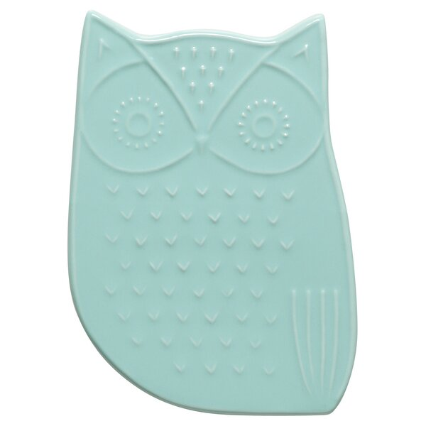 Owl Ceramic Trivet by Danica Studio