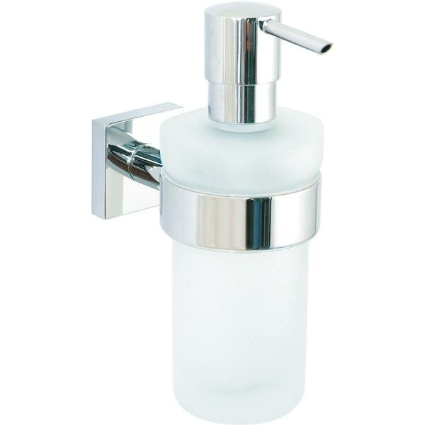 Soriano Wall Mounted Frosted Glass Soap & Lotion Dispenser by Orren Ellis