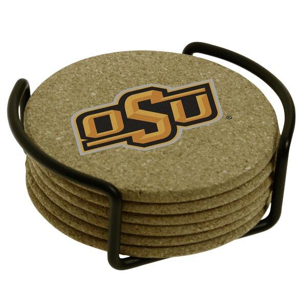7 Piece Oklahoma State University Cork Collegiate Coaster Gift Set by Thirstystone